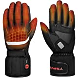 Professional Heated Motorcycle Gloves,Electric Rechargable Battery Gloves for Men Women,Winter Waterproof Riding Ski…