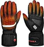 Professional Heated Motorcycle Gloves,Electric Rechargable Battery Gloves for Men Women,Winter Waterproof