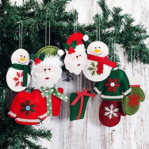 Ornament Claus Santa Tree Christmas (EDLDECCO Christmas Tree Decorations Hanging Ornaments Santa Claus Gnome Snowman Pendants Home Decor)