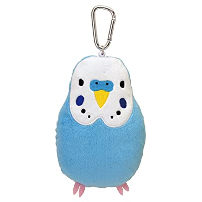 Soft and Downy Bird Plush Doll Reel Pass Case (Budgerigars / Blue): Toys & Games