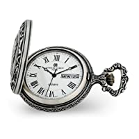 Charles Hubert Antique Chrome Finish Train Pocket Watch 14.5
