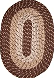 Plymouth 20″ x 30″ Braided Rug in Brown For Sale