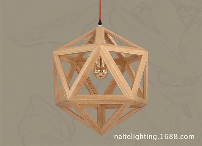 Plafoniere Grandi Per Soggiorno : Skiom loft lampada sospensione il nordic moderno legno industriale