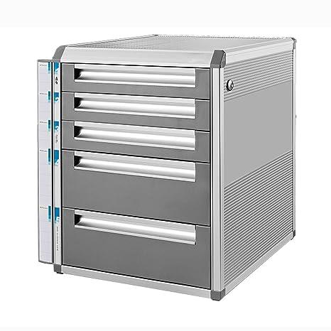 archivadores Archivo de gabinete de Escritorio con Cerradura de aleación de Aluminio cajón de Almacenamiento de