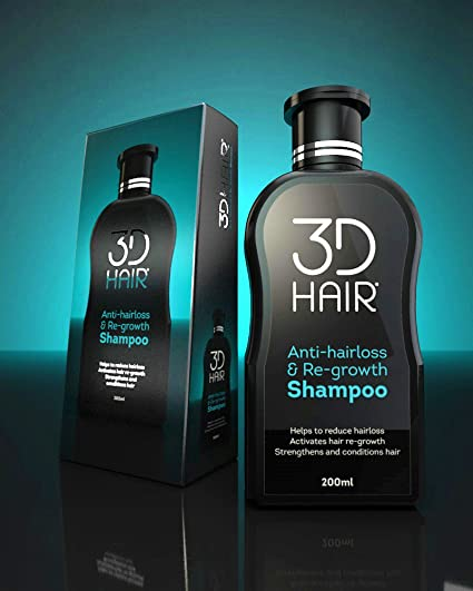 3D Hair Anti-hairloss & Re-growth Shampoo 200ml