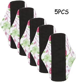 Vanki 5pcs Menstrual Pad Bamboo Cloth Reusable Washable Mama Sanitary Pad Liner 30# L
