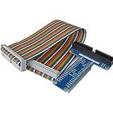 Kuman SC05 Rpi GPIO Carte D'extension + Câble Ruban Pour Raspberry Pi 3 2 Modèle B & B+ Adaptateur Type T GPIO 20cm FC40 Câble Ruban Plat 40 Broches