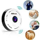 REDLEMON Cámara De Seguridad WiFi IP 360° Panorámica, Lente Fish Eye para iPhone y Android, Monitor de Bebé, Visión Nocturna, Detección de Movimiento, Monitoreo Remoto en Tiempo Real, para Casa y Oficina