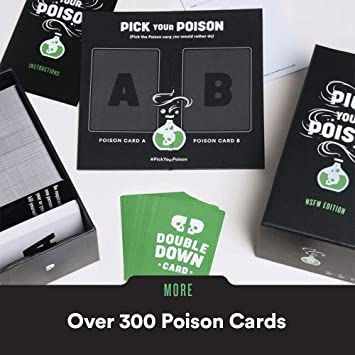 "Pick Your Poison Adult Card Game: The ""What Would You Rather Do?"" Party Game - NSFW Edition"