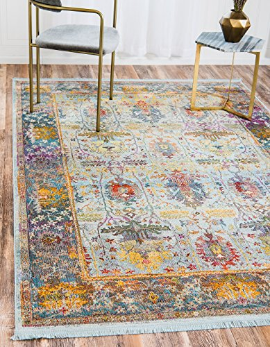 - A2Z Rug Light Blue 8' 4 x 10' Feet St. Tropez Collection Traditional and Modern Area Rugs and Carpet