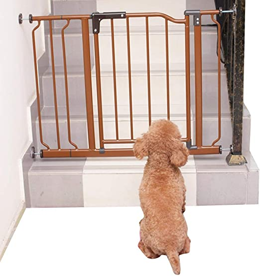 QIANDA Barrera de Seguridad Bebé Puerta de la Escalera Ajuste De Presión Puerta De Seguridad Se Abre A Ambos Lados Incluyendo Extensión De 14cm (Size : 100-113cm): Amazon.es: Hogar