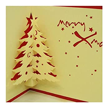 3d Pop Up Handmade Christmas Greeting Cards Postcard Gifts For Xmas