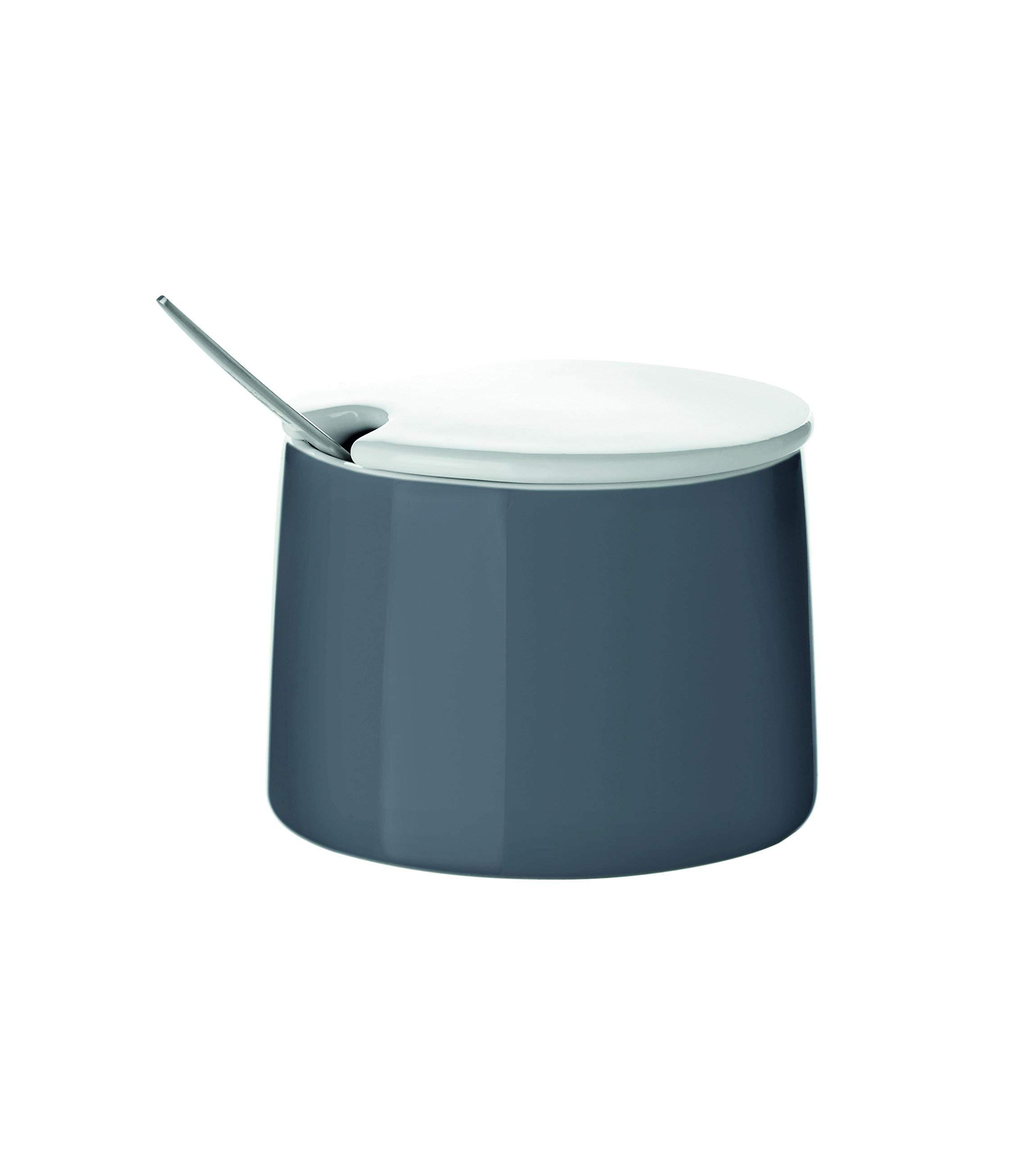 Stelton Emma Sugar Bowl, with Lid, Porcelain, Dark Grey, 150 ml, X-205-1