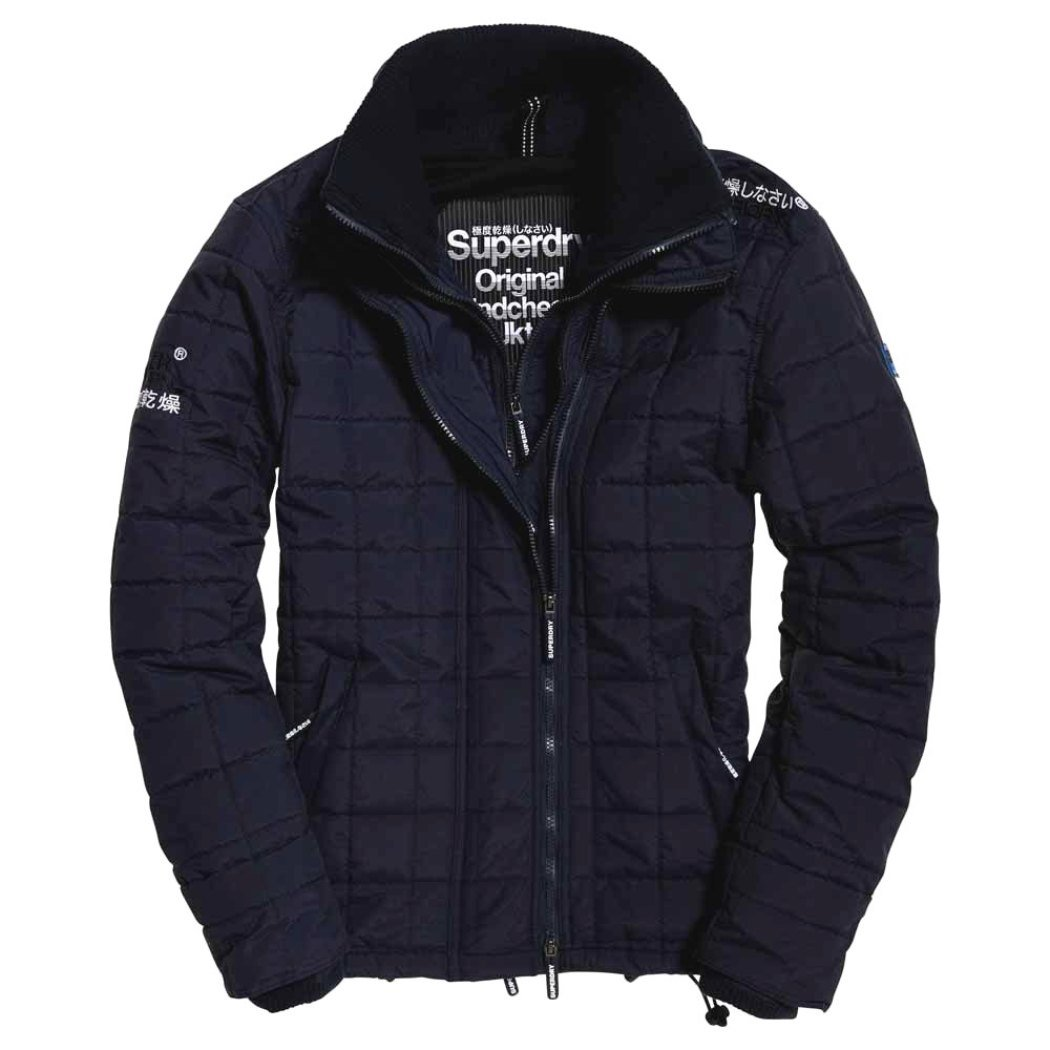 Bleu 3XL Superdry Quilted Athletic Windcheater Veste de Costume Homme