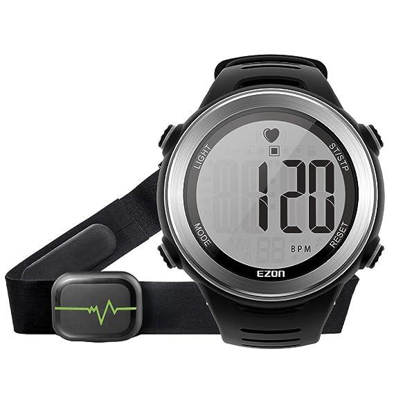 EZON t007 a01 Digital reloj pulsómetro con alarma HRM Tech ...