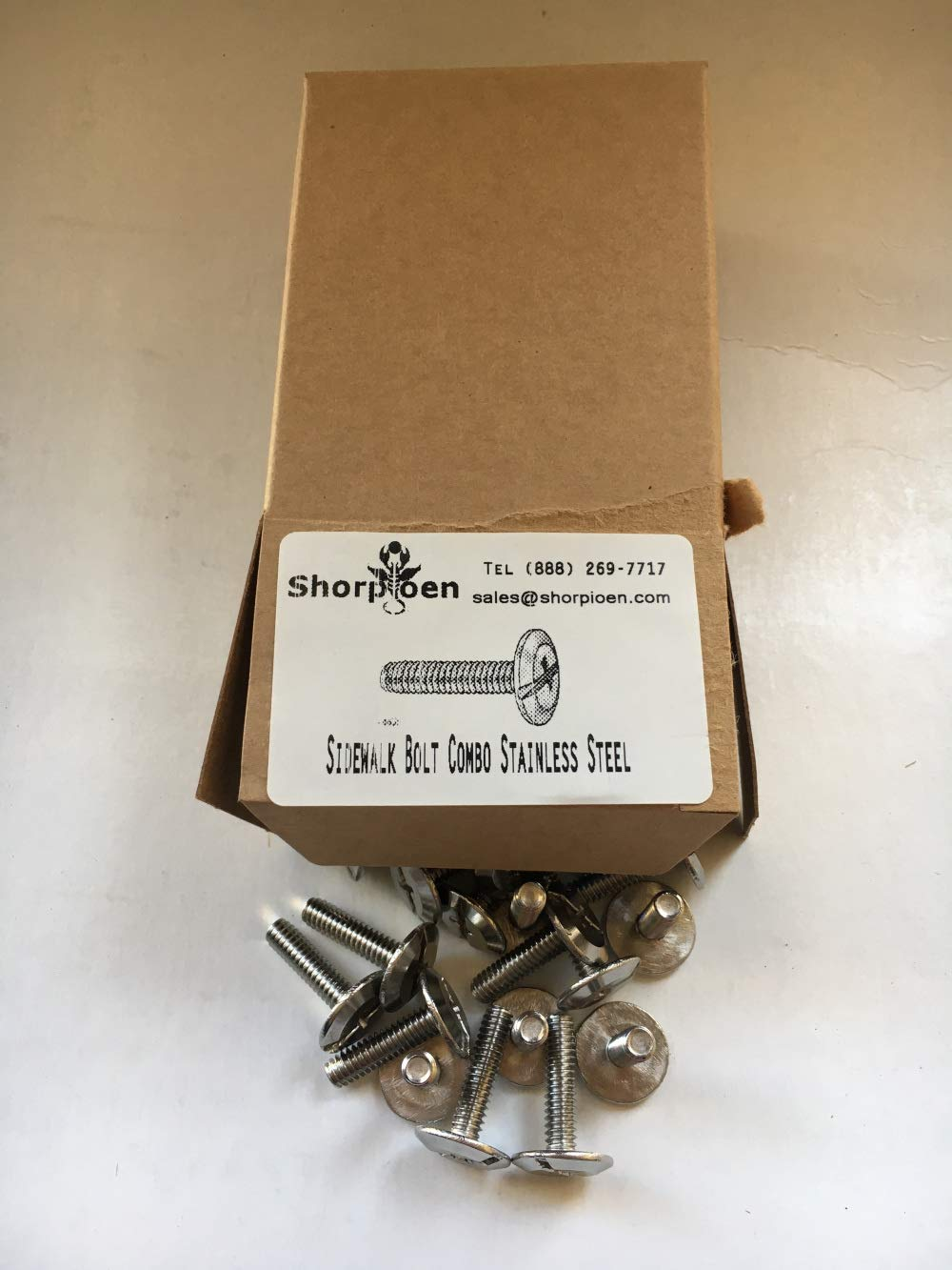 Pack of 25 Sidewalk Bolt Stainless Steel 1//4 x 1