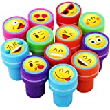 Emoji Assorted Plastic Stamps - 24 Stamper Pieces - Great for Birthday Party Favors