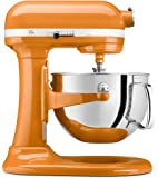 KitchenAid KP26M1XTG Professional 600 Series 6-Quart Bowl-Lift Stand Mixer, Tangerine