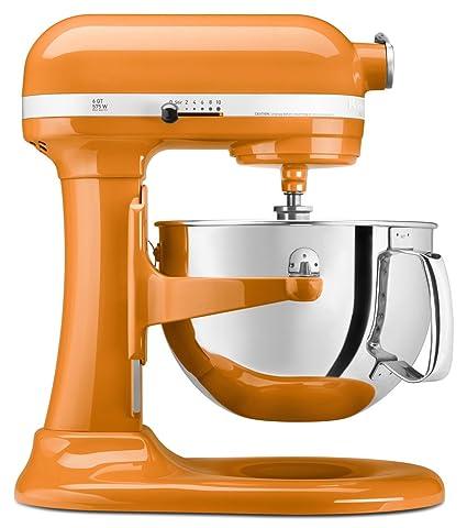 Exceptionnel KitchenAid KP26M1XTG 6 Qt. Professional 600 Series Bowl Lift Stand Mixer    Tangerine