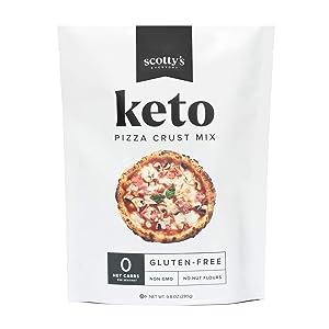 Keto Pizza Crust Zero Carb Mix - Keto and Gluten Free Pizza Baking Mix - 0g Net Carbs Per Slice - Easy to Bake - No Nut Flours - Makes 1 Pizza (8.4oz Mix)