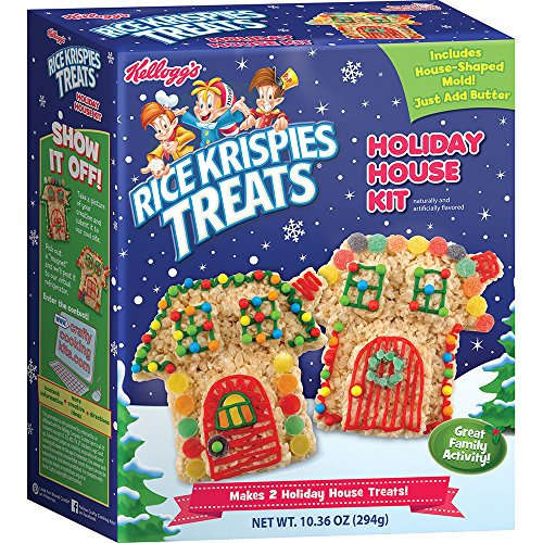 Crafty Cooking Kits Kellogg's Rice Krispies Treats Holiday House Kit, 10.36 Ounce (Cookie House Kit)