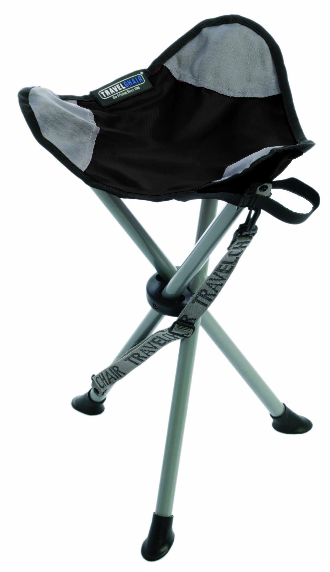 TravelChair Slacker Chair, Tripod Stool, Black by TravelChair