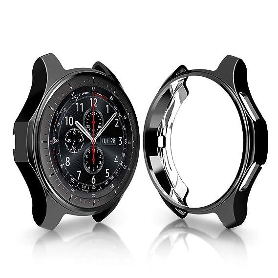 Protector Funda para Samsung Galaxy Smartwatch 46mm, Baiomawzh Protector de Pantalla Cubierta Protectora Completa Carcasa