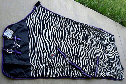 Challenger Horsewear 84'' Horse Exercise Sheet Polar Fleece Cooler Blanket Wicks Moisture Zebra 4348 by Challenger Horsewear