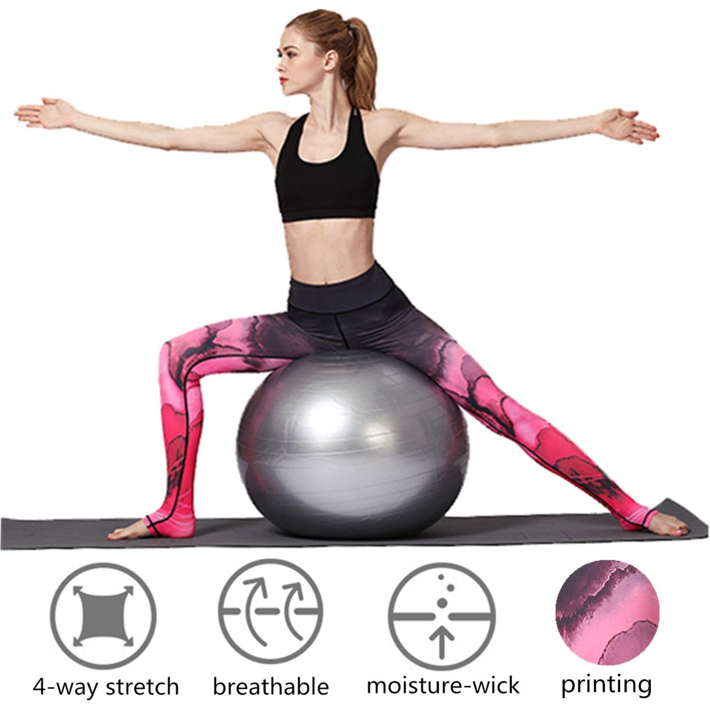 KEFITEVD Yoga Pants for Women High Waist Leggings Stretch Soft Yoga Leggings Lightweight Yoga Pants