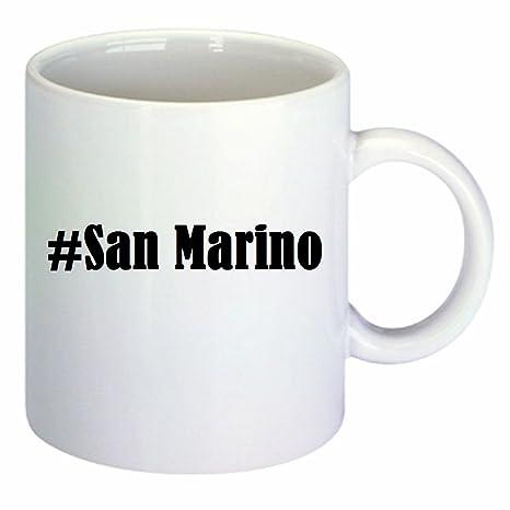 Tazzina da caffè #San Marino Hashtag rombo in ceramica Altezza 9,5 ...