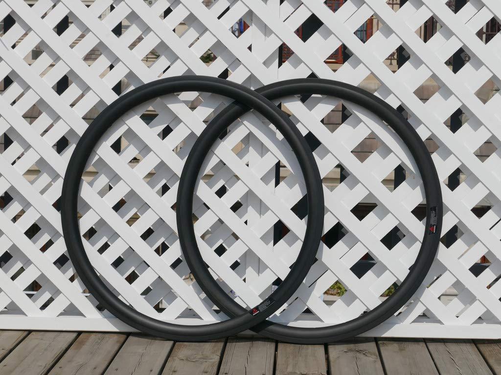 flyxii 幅23mm U字型 38mm サイクリングホイールリム 3K カーボンマットバイク クリンチャーリム 700C カーボンロード自転車リム 38mm (20、24穴)   B07PHT9LHP