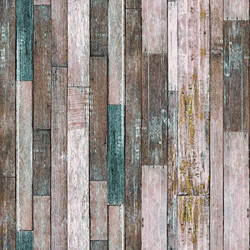10606 Wood Texture Wallpaper Rolls,Brown/Tan Faux Wood Plank Wallpaper Murals Home Kitchen Bedroom Living Room Decoration 20.8