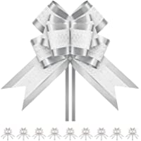 BTSCHOOL 10 Extra Large Ribbon Bows, 7.5 inches, Pull Ribbons and Bows for Gifts, Gift Wrap Bows for Decorating Presents…