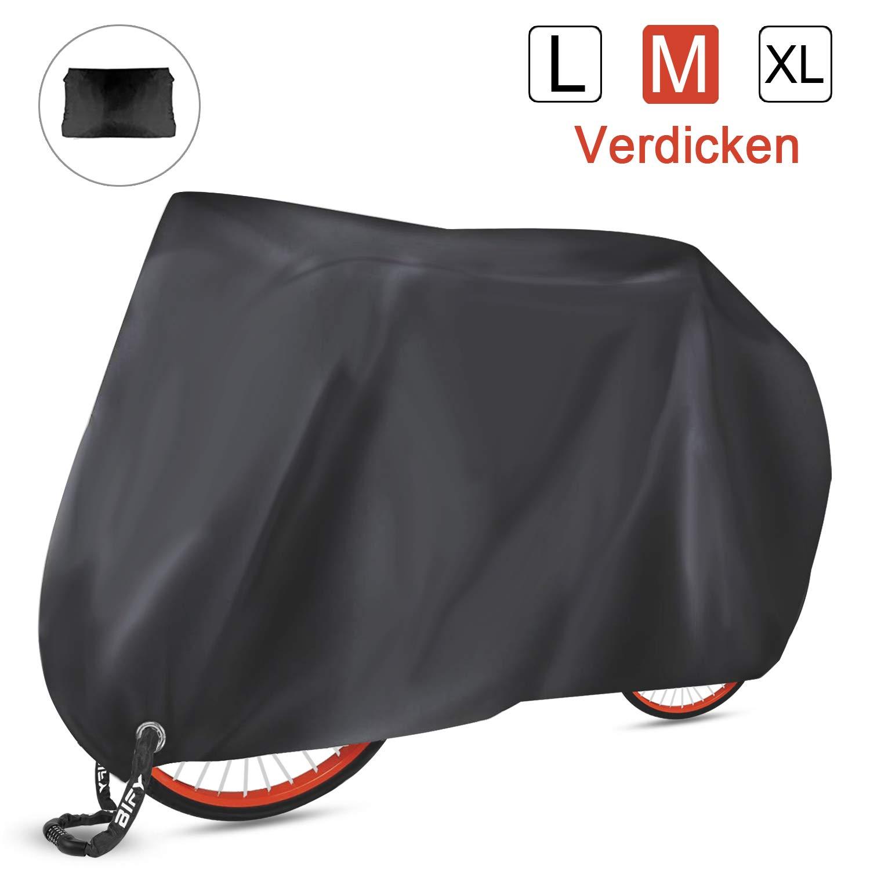 BIFY Fahrradabdeckung wasserdicht 190T hochwertige Fahrrad- Sonnenschutz und Regen Motorradabdeckung Thick M