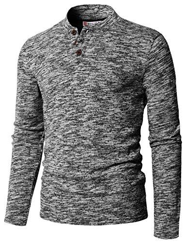 H2H Mens Summer Casual V-Neck Button Cuffs Cardigan Short Sleeve T-Shirts Black US L/Asia XL (CMTTL095)