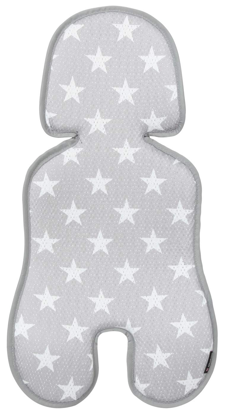 Manito Clean Infant Carseat 3D Mesh Seat Pad/Cushion/Liner (Star Grey)