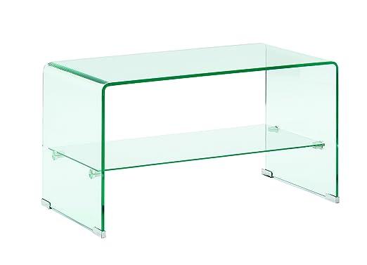 Trendyitalia 10548 - Mesa para TV, Cristal, Transparente, 42 x 40 ...