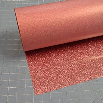 Siser Glitter Rose Gold 20quot X 10 Iron On Heat Transfer Vinyl Roll