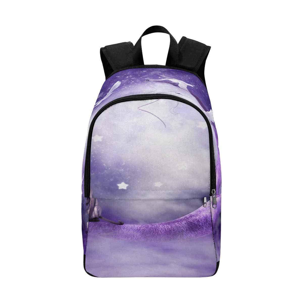InterestPrint Purple Moon Custom Casual Travel Laptop Backpack Bookbag Daypack