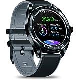 """Zeblaze NEOスマートウォッチ、統合GPS IP67防水1.3""""終日カラータッチスクリーンハートレート、血圧、アクティビティトラッキング、女性の健康、着信拒否、リモート写真、睡眠モニタリングスポーツウォッチ歩数計Bluetooth、iOS、Androidとの互換性 (黒)"""