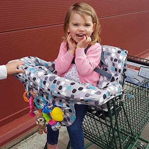 DGdolph Supermercato per Bambini Carrello della Spesa Coprisedile Anti-Sporco Giallo