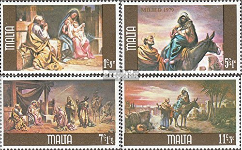 Malta 603-606 (complete.issue.) 1979 christmas (Stamps for collectors) (604 Christmas)