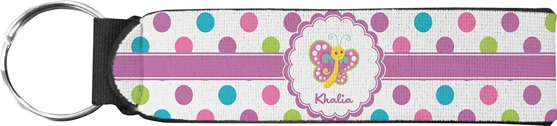 Polka Dot Butterfly Keychain Fob (Personalized)