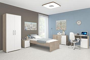 Schlafzimmer Komplett   Set A Savai, 5 Teilig, Farbe: Eiche / Weiß