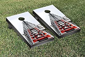 Fire Engine Ladder Truck Themed Cornhole Game Set