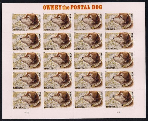 USPS Owney The Postal Dog Sheet of 20 Forever Stamps Scott 4547 (Postal United Stamps)