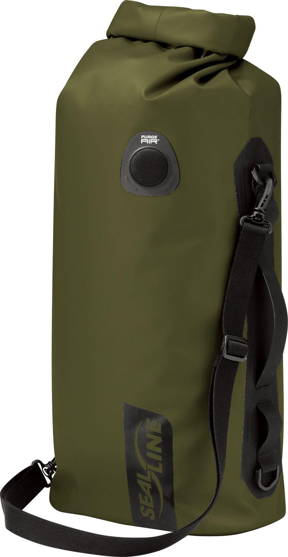SealLine Discovery Deck Waterproof Dry Bag with PurgeAir, Olive, 20-Liter