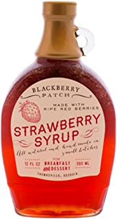 product image for Strawberry Syrup - Blackberry Patch -All Natural Handmade In Small Batches | For breakfast pancakes and waffles or drizzled over fresh fruit 12 fl oz (Strawberry, 12 Ounce)