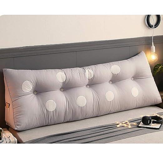 Cabecero de Cama tapizado cojín de cama cojín triángulo sofá ...