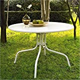 Cheap BOWERY HILL Round Metal Dining Table in White